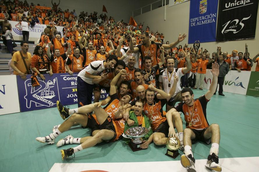 Cai voleibol teruel campeon de la superliga de Voleibol. Foto Antonio