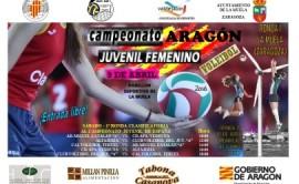 Cartel Campeonato Aragon Voley Juvenil Femenino 2016