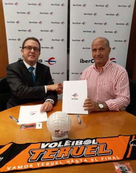 Firma Ibercaja Voley Teruel 2018 2019