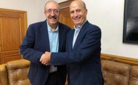 Con el Presidente de la DPT
